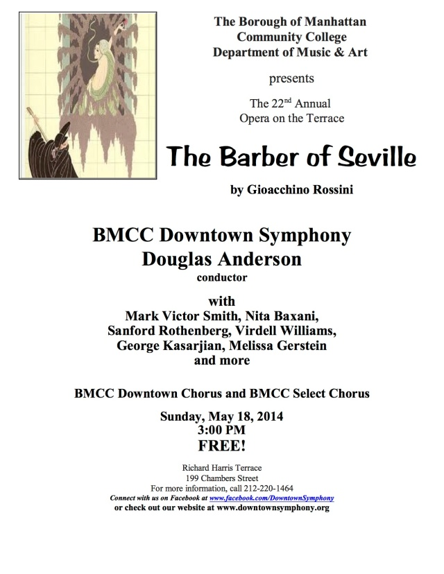 Barber of Seville Concert Flyer - May 18, 2014