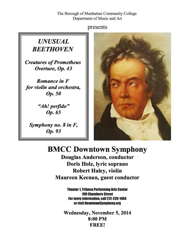 Beethoven Concert Flyer - Nov 5, 2014
