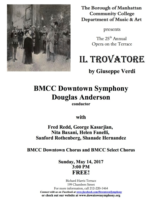 Il Trovatore Concert Flyer - May 14, 2017