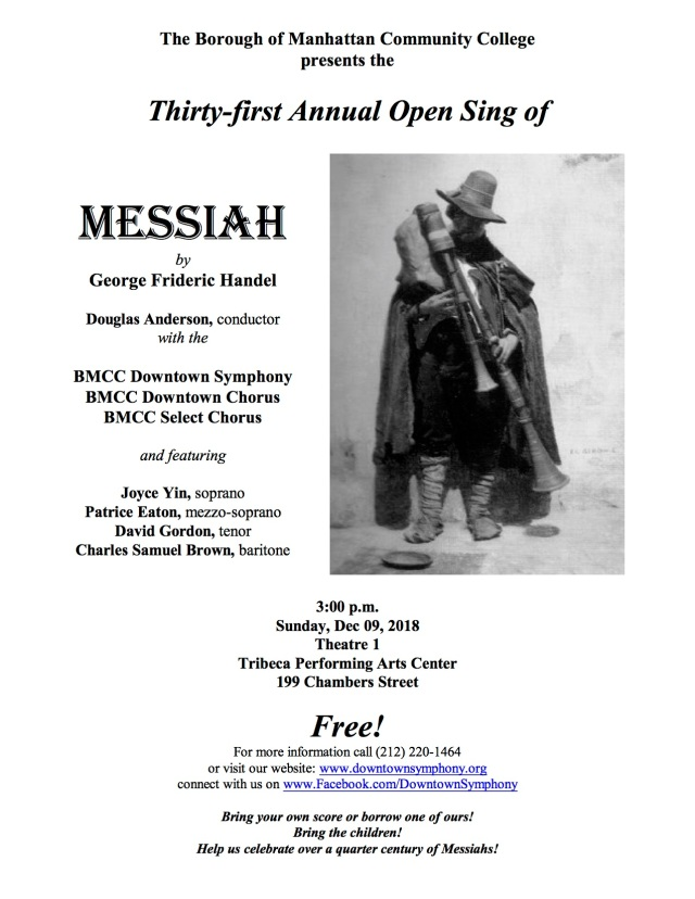Handel Messiah Flyer - Dec 09, 2018