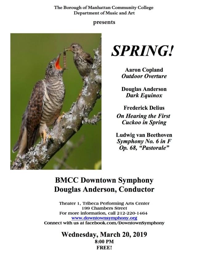 2019 - Spring! Concert Flyer - Mar 20 2019